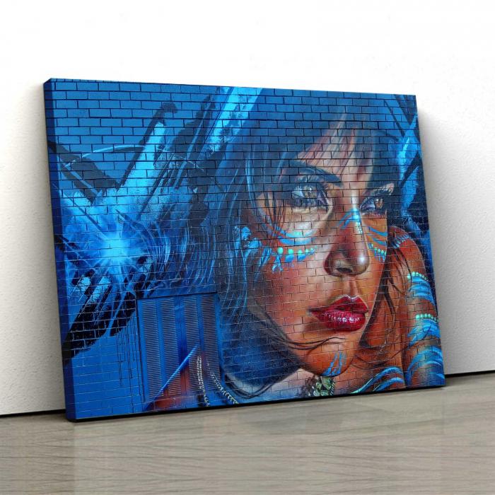Tablou Canvas - Blue Hair 0