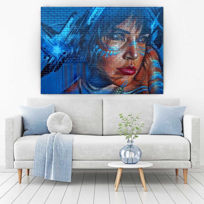 Tablou Canvas - Blue Hair 1