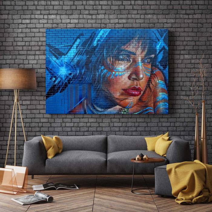 Tablou Canvas - Blue Hair 2