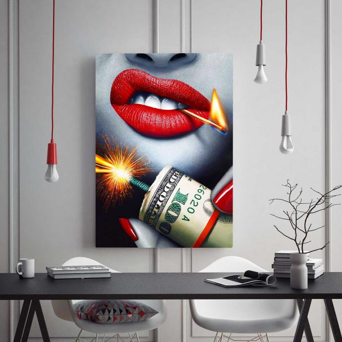 Tablou Canvas - Bomb & Money [1]