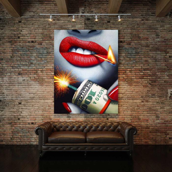 Tablou Canvas - Bomb & Money [2]