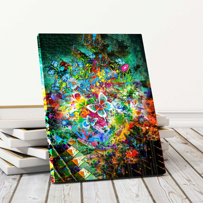 tablou canvas modern fluture abstract [0]