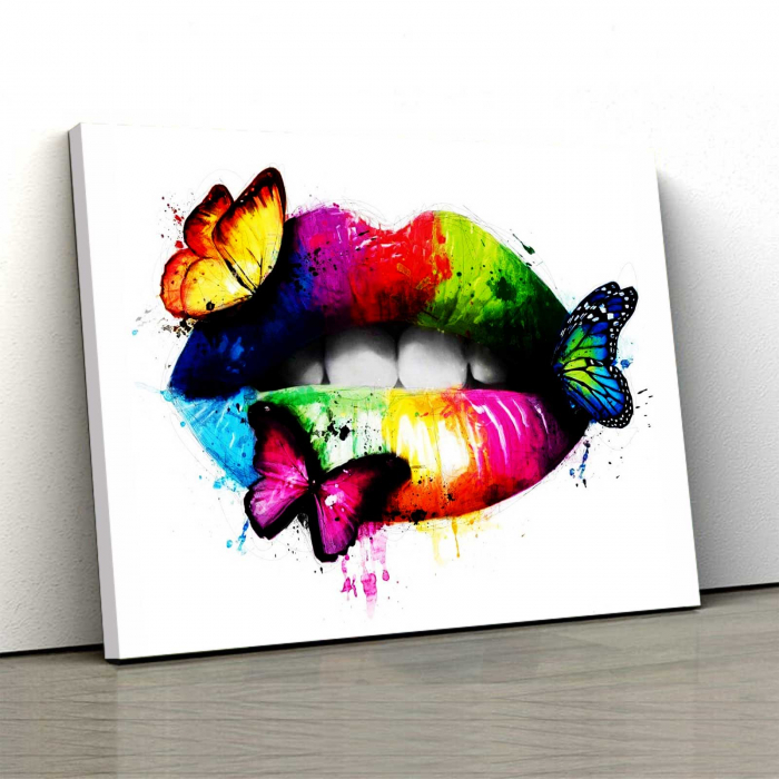 Tablou Canvas - Butterfly Lips 0