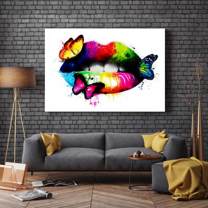 Tablou Canvas - Butterfly Lips 2