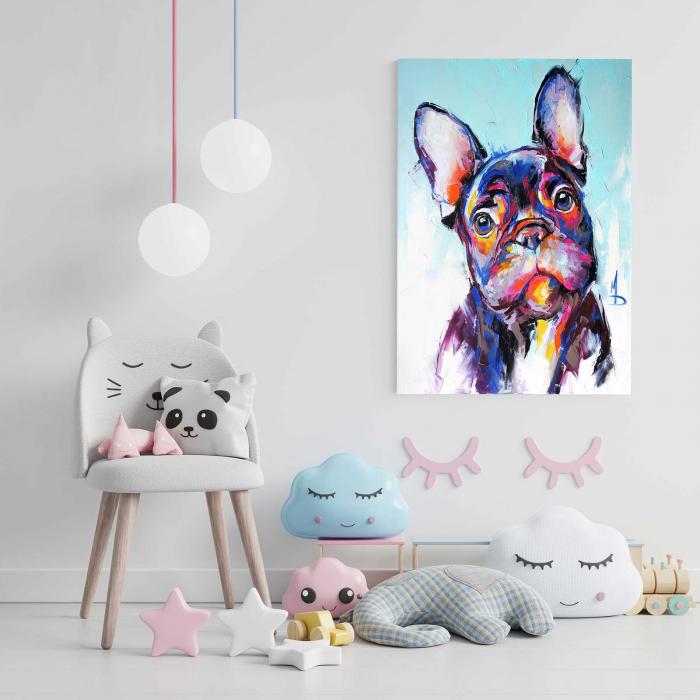 Tablou Canvas Copii - Neon Dog [1]