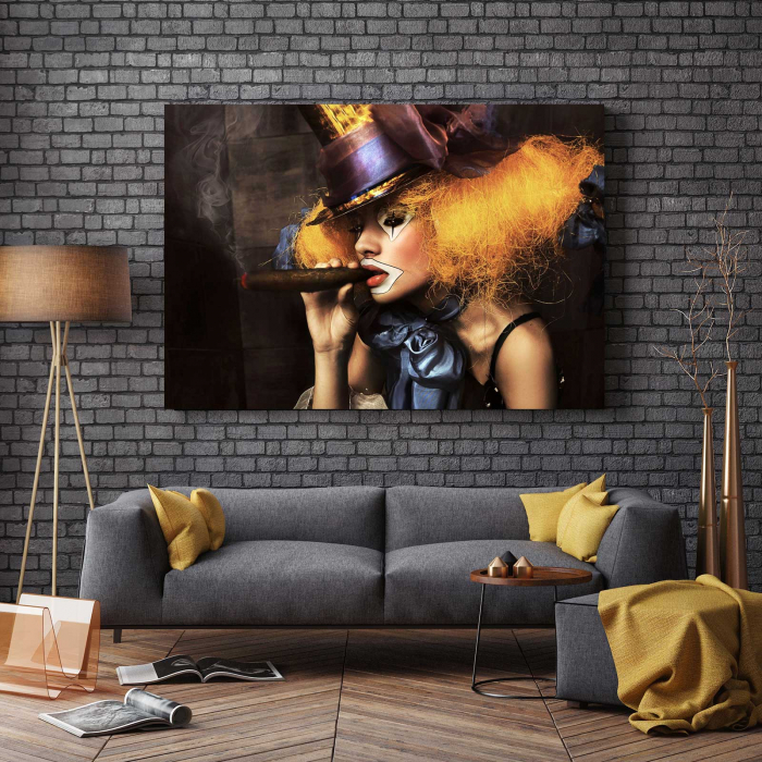 Tablou Canvas - Clovn & Trabuc 2