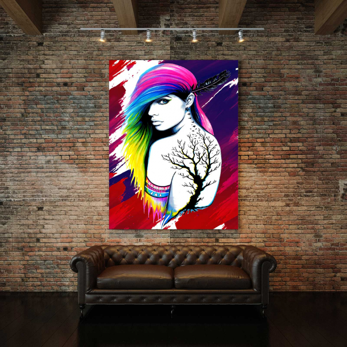 Tablou Canvas - Colored Girl 2
