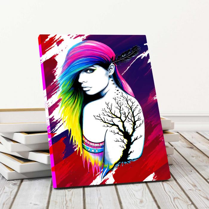 Tablou Canvas - Colored Girl 0