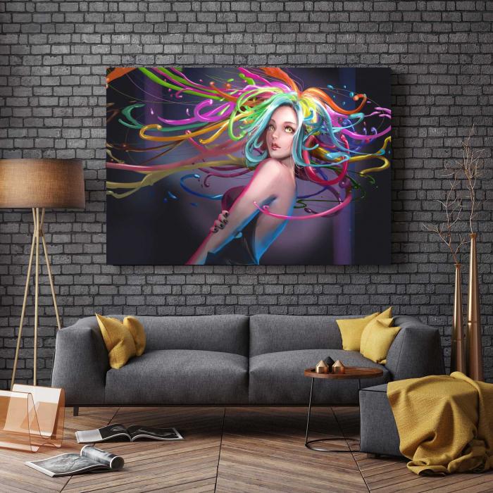 Tablou Canvas - Colored Hair 2