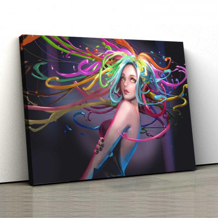 Tablou Canvas - Colored Hair 0