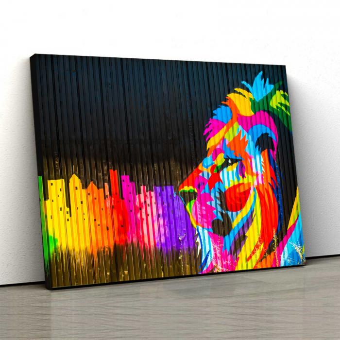 Tablou Canvas - Colored Lion [0]