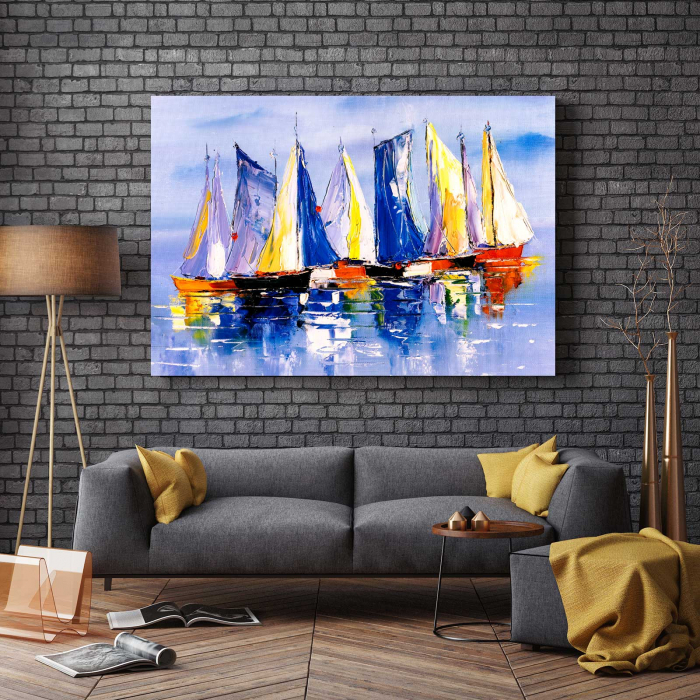 Tablou Canvas - Colorful Boats 2