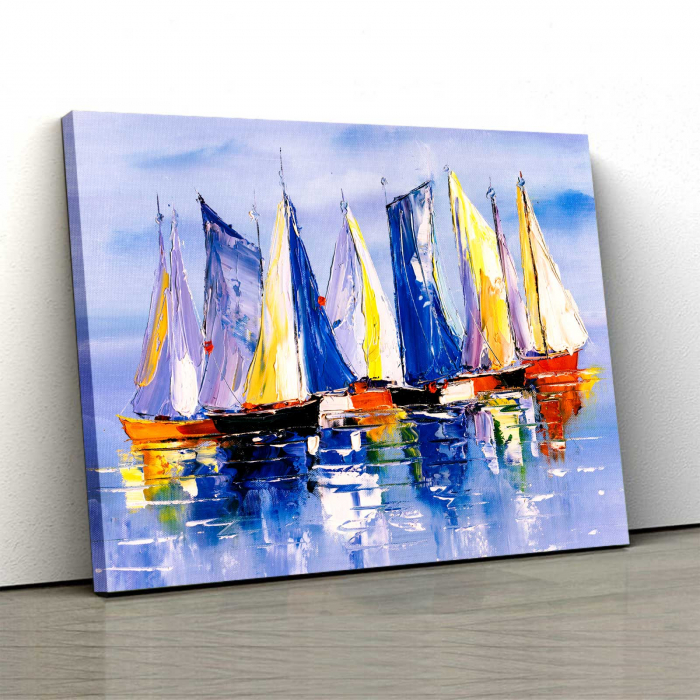 Tablou Canvas - Colorful Boats 0