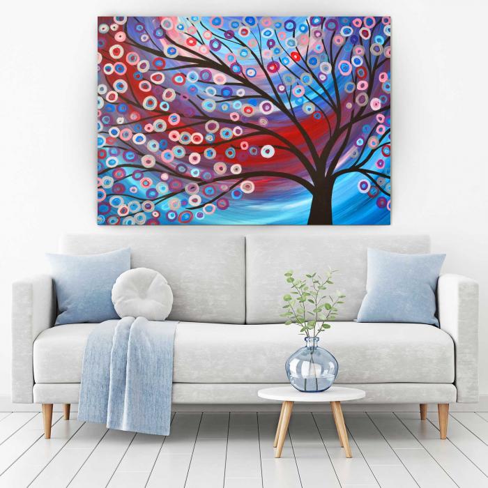 Tablou Canvas - Copac Cu Flori 1
