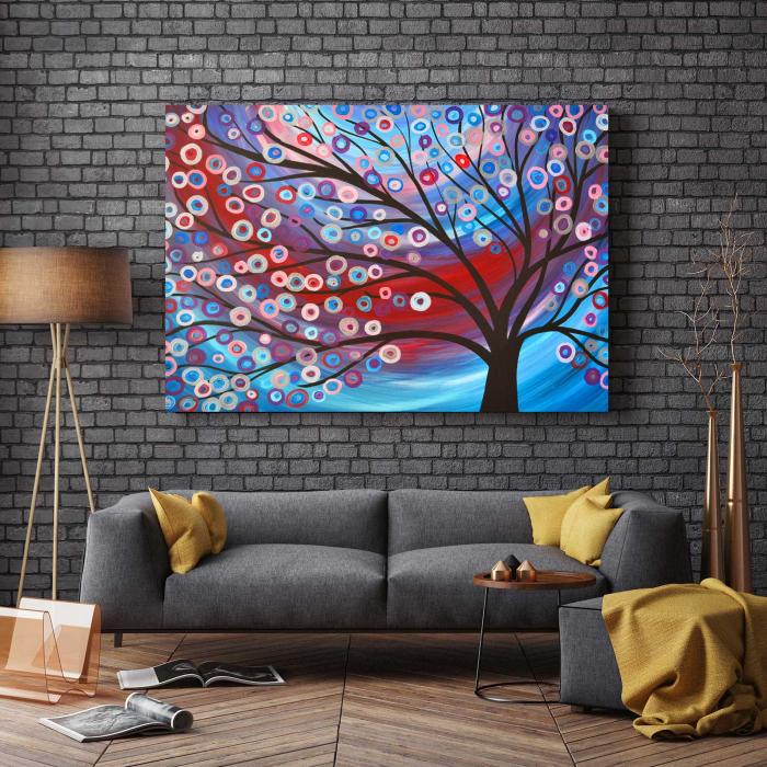Tablou Canvas - Copac Cu Flori 2