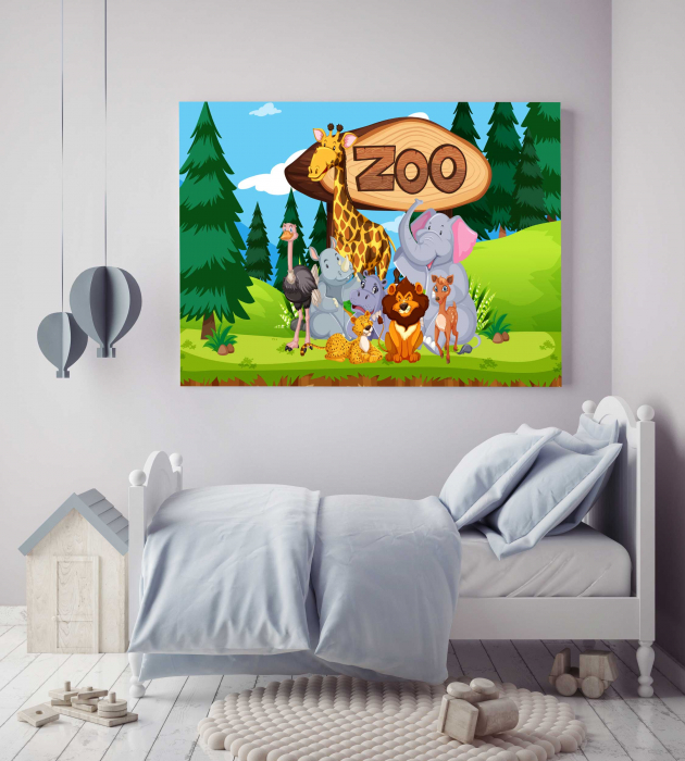 Tablou Canvas Copii - Zoo 2