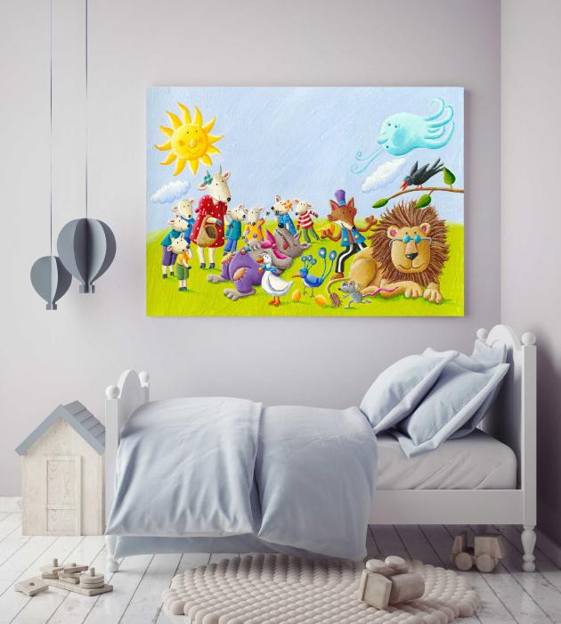 tablou-canvas-copii-animals-paint 2