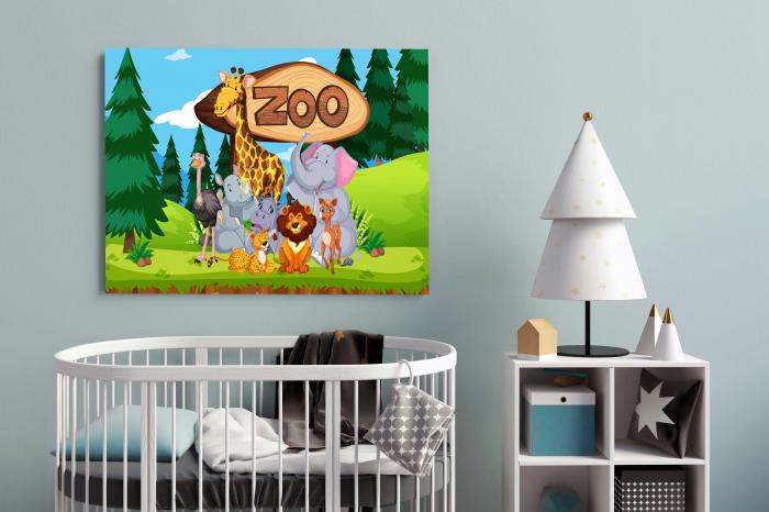 Tablou Canvas Copii - Zoo 1