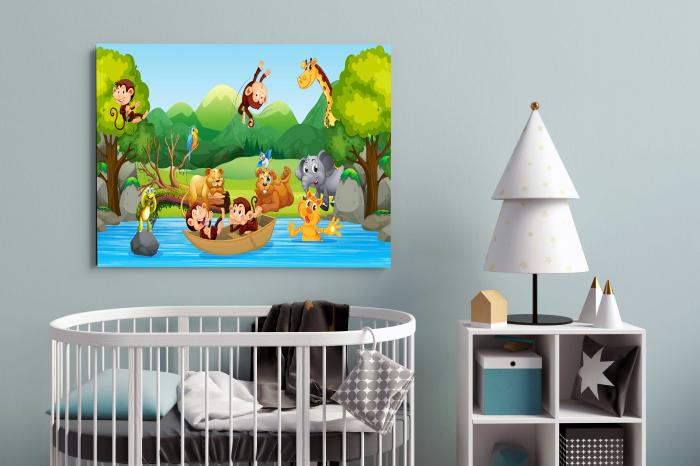 Tablou Canvas Copii - Zoo Party 1