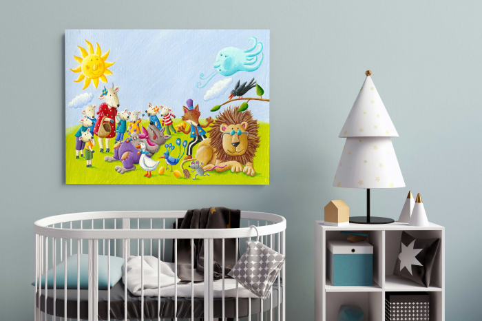 tablou-canvas-copii-animals-paint 1