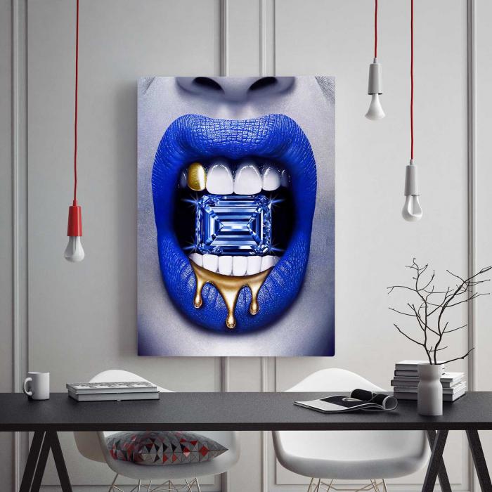 Tablou Canvas - Diamond Lips 1