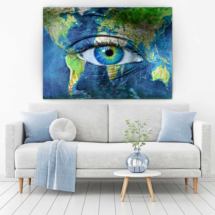 Tablou Canvas - Eye On Map 1