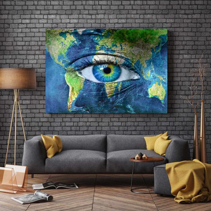 Tablou Canvas - Eye On Map 2