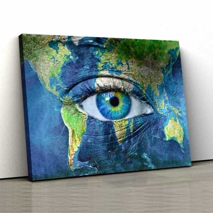 Tablou Canvas - Eye On Map 0