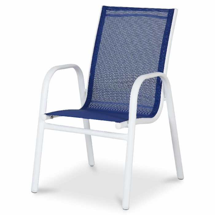 Scaun pentru copii, albastru, otel si poliester, 51 x 43 x 70 cm [0]