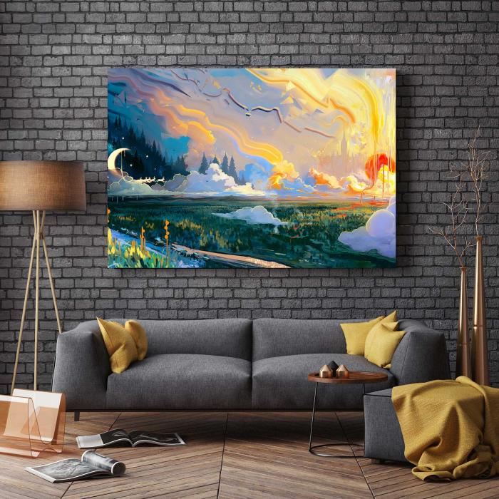 Tablou Canvas - Fundal Peisaj 2