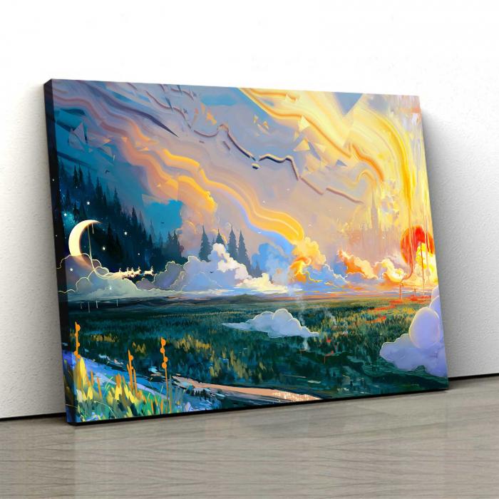Tablou Canvas - Fundal Peisaj 0