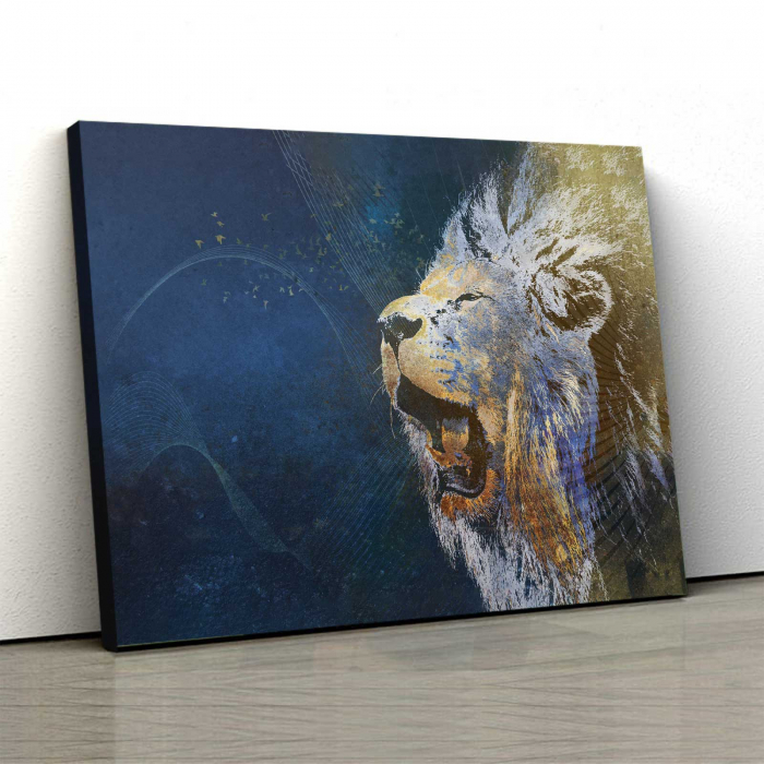 Tablou Canvas - Furious Lion 0