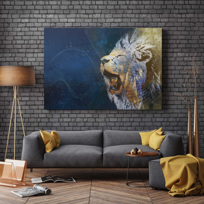 Tablou Canvas - Furious Lion 2