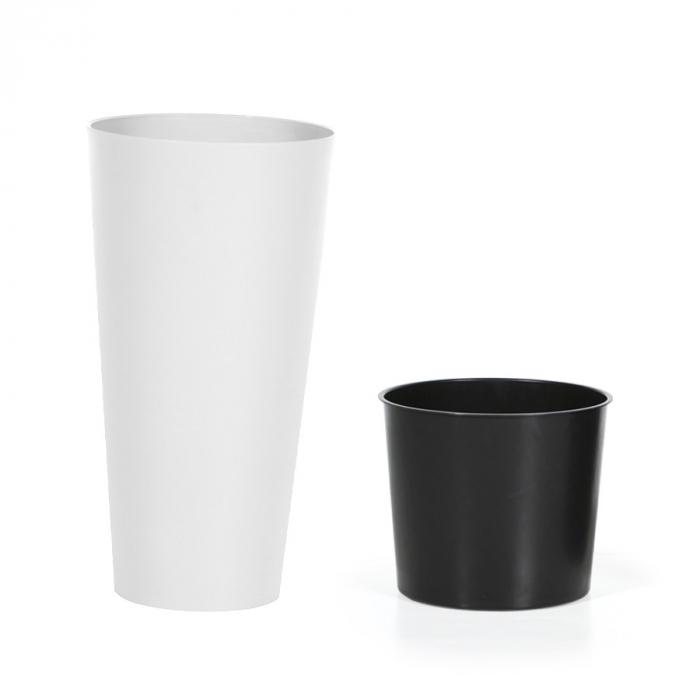 Ghiveci din plastic, alb D 20 cm [0]