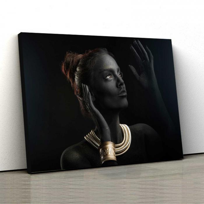 Tablou Canvas - Gold & Black 0