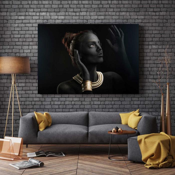 Tablou Canvas - Gold & Black 2