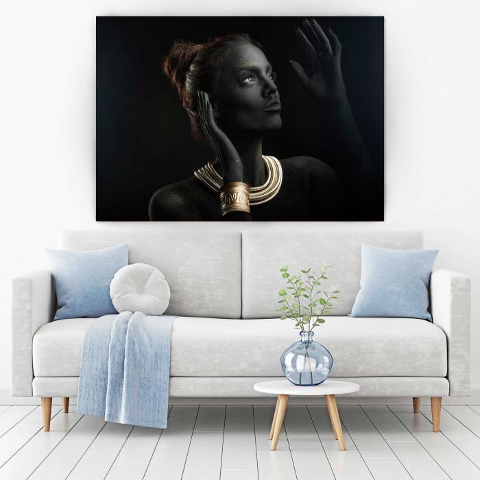 Tablou Canvas - Gold & Black 1