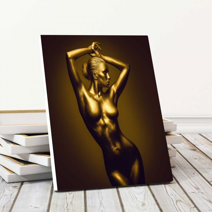 Tablou Canvas - Gold Nude 1 0