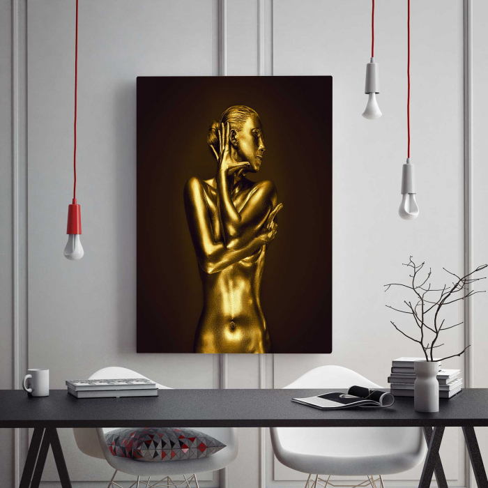 Tablou Canvas - Gold Nude 4 1