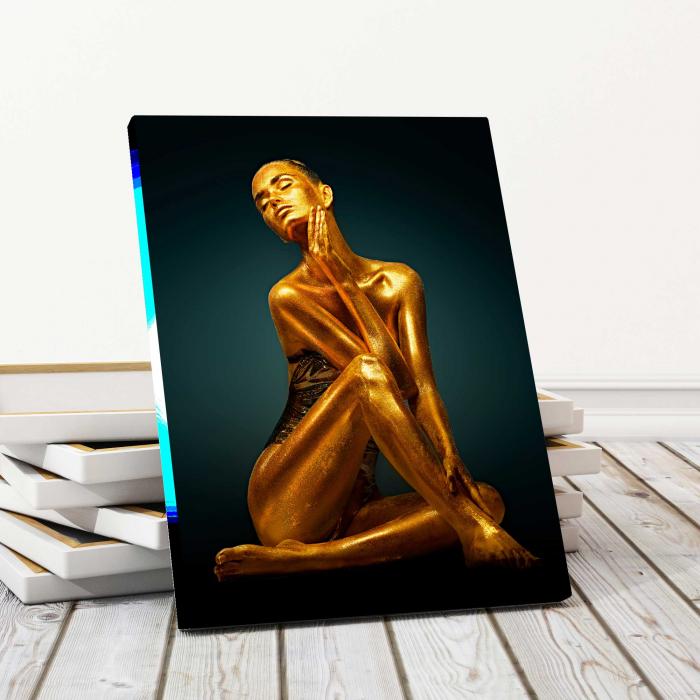 Tablou Canvas - Gold Woman 0