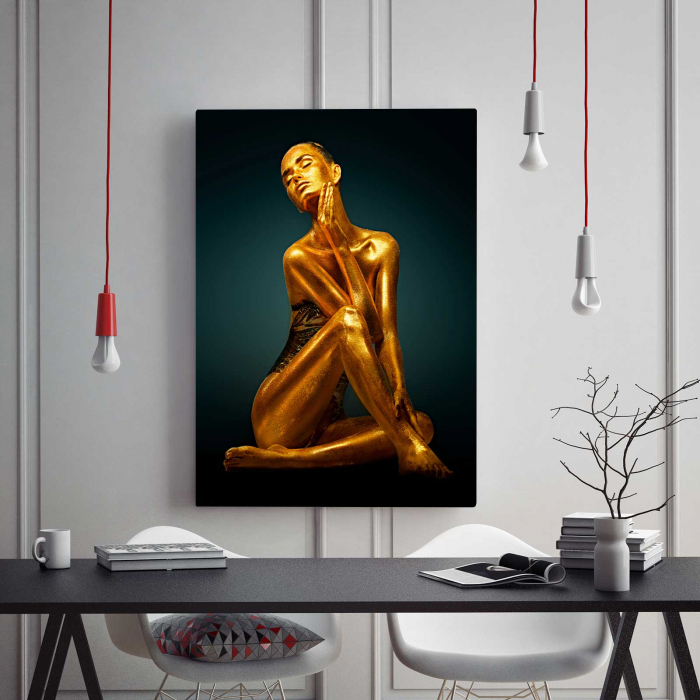 Tablou Canvas - Gold Woman 1