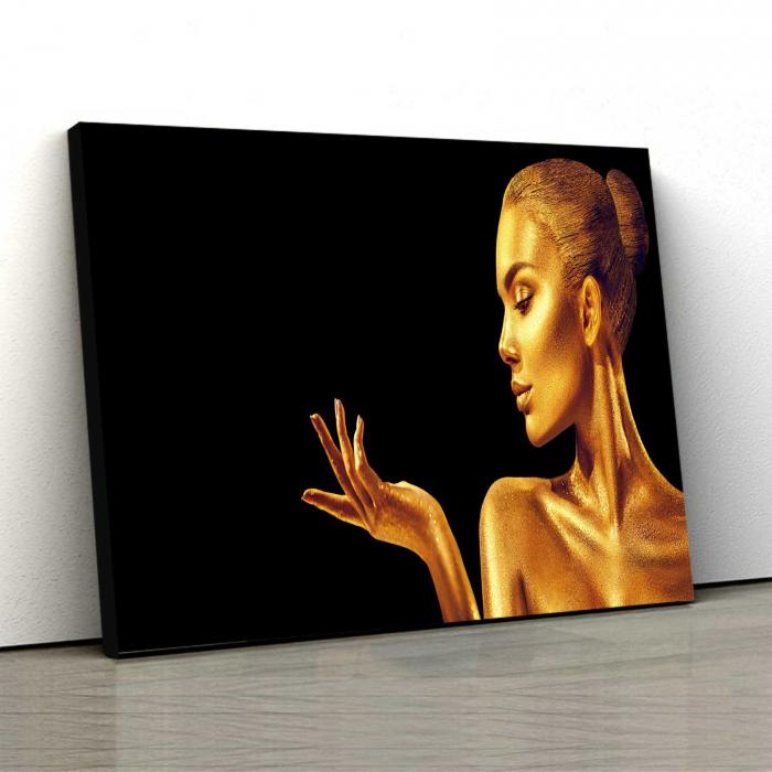 Tablou Canvas - Golden Face [0]
