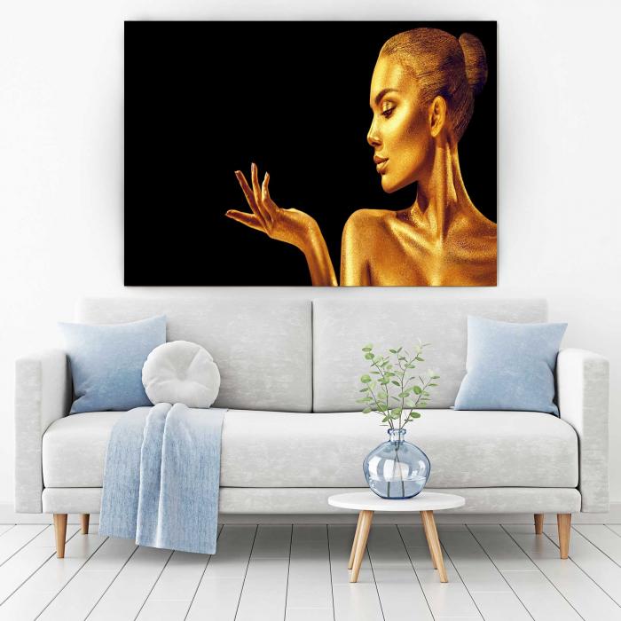 Tablou Canvas - Golden Face [1]