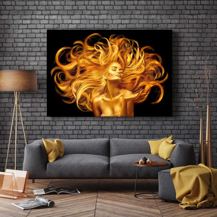 Tablou Canvas - Golden Girl [2]