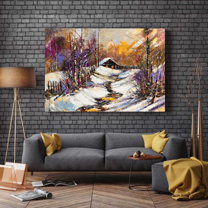 Tablou Canvas - Iarna In Sat [2]