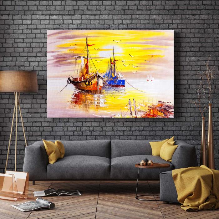 Tablou Canvas - lustratie Nave 2