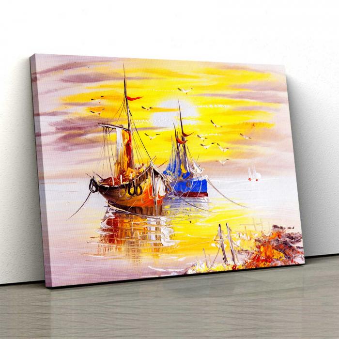 Tablou Canvas - lustratie Nave 0