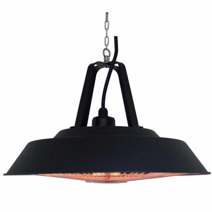 Incalzitor electric suspendat Negru rotund cu halogen, 1500 W, D 425 mm 1