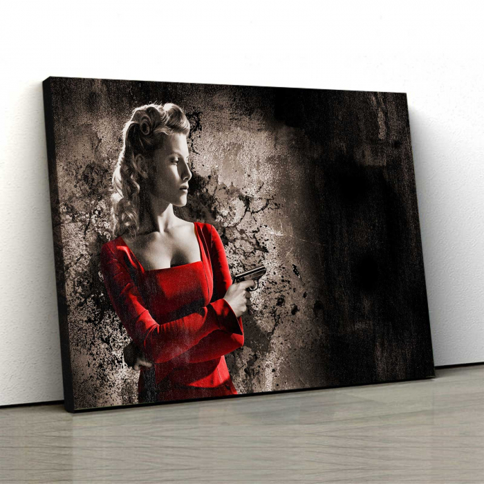 Tablou Canvas - Lady In Red 0