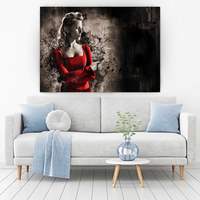 Tablou Canvas - Lady In Red 1